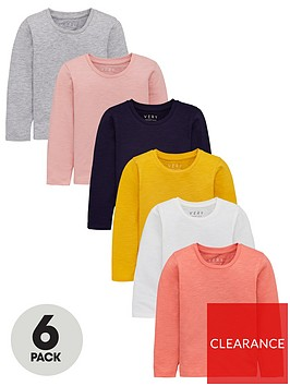 v-by-very-girls-6-pack-long-sleeve-t-shirts-multi