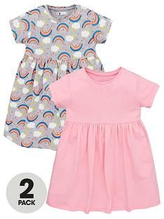 v-by-very-girls-2-pack-rainbow-jersey-dresses-multi