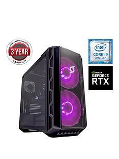 Zoostorm Stormforce Crystal i9-9900K Gaming PC - Intel Core i9,16GB RAM,2TB Hard Drive & 250GB NVMe SSD, NVIDIA 8GBRTX 2080 Graphics, Black