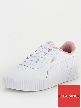 puma-carina-leather-childrens-trainers-whitepink