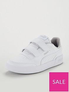 puma-caracal-v-childrens-trainers-whitesilver