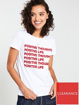 v-by-very-positive-thoughts-flocked-t-shirt-white
