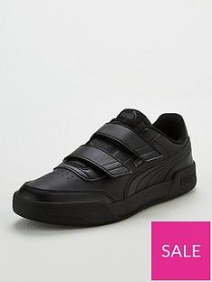 puma-caracal-v-childrens-trainers-blackgrey
