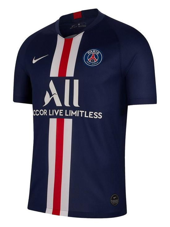finest selection 7ffb9 df219 Youth PSG 19/20 Home Short Sleeved Stadium Jersey - Navy