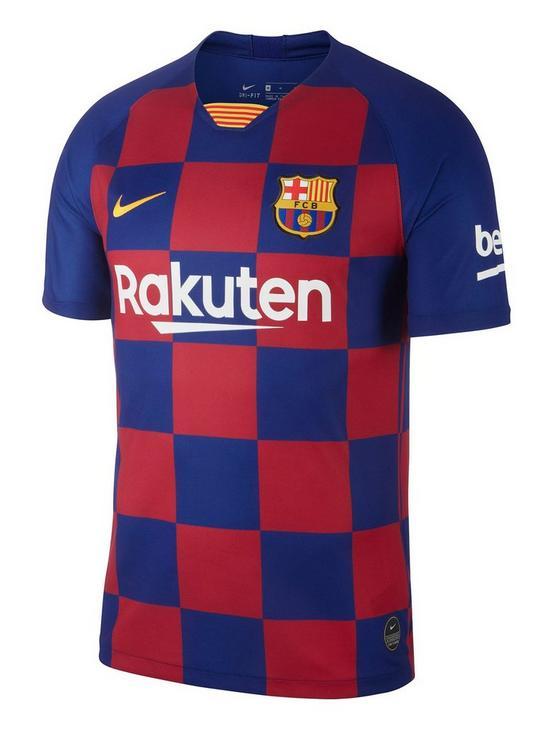 the best attitude 742bf 49b6a Youth Barcelona 2019/20 Home Short Sleeved Stadium Football Shirt - Blue