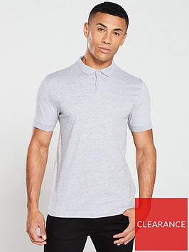 v-by-very-collar-detailnbspjersey-polo-shirt-grey-marl