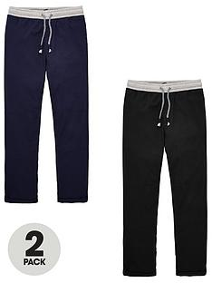 v-by-very-boys-2-pack-marl-waistband-pull-on-trousers-navyblack