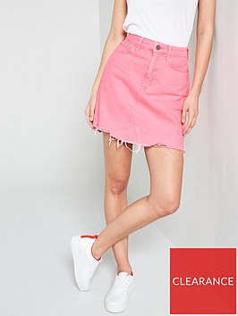 river-island-pink-denim-skirt--pink