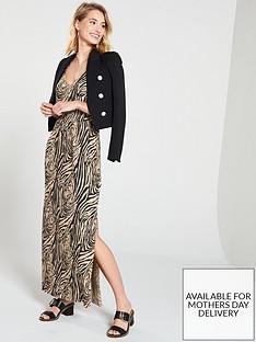 river-island-river-island-zebra-print-shirred-waist-maxi-dress--zebra