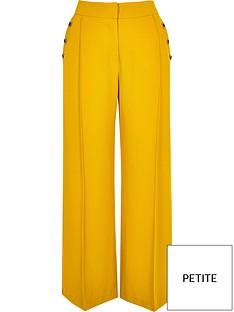 ri-petite-ri-petite-button-detail-wide-leg-trouser--yellow