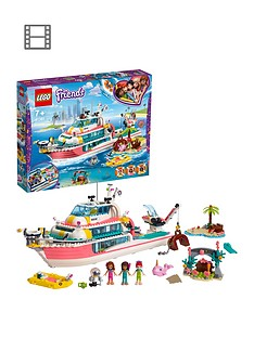 LEGO Friends 41381 Rescue Mission Boat Toy with Mini Dolls