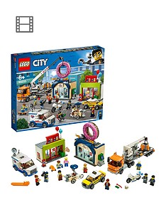 LEGO City 60233 Donut Shop Opening with Vehicles and 10 Minifigures