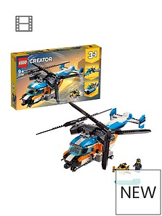 LEGO Creator 31096 3in1 Twin Rotor Helicopter Toy