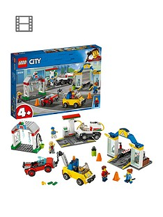 LEGO City 60232 Garage Center with 3 Cars and 4 Minifigures Best Price, Cheapest Prices
