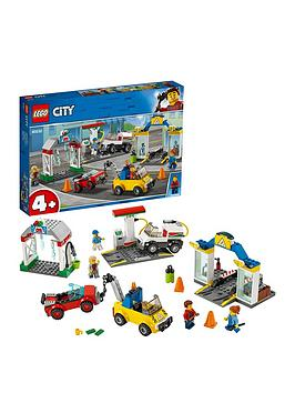lego-city-60232-garage-center-with-3-cars-and-4-minifigures