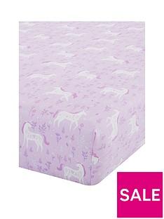 catherine-lansfield-folk-unicorn-junior-fitted-sheet