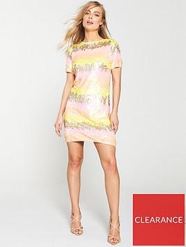 v-by-very-stripe-sequin-tunic-dress-multi