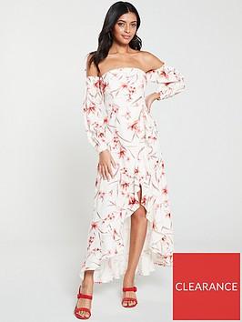 v-by-very-floral-off-shoulder-dipped-hem-maxi-dress-print