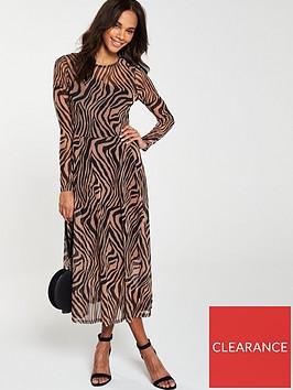 v-by-very-jersey-mesh-printed-midi-dress-ndash-zebra