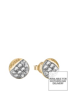 guess-guess-embrace-gold-and-crystal-set-ladies-stud-earrings