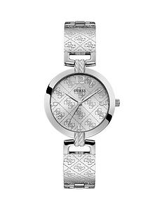 guess-guess-g-luxe-silver-logo-dial-stainless-steel-half-bangle-ladies-watch