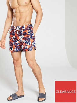 selected-homme-tokyonbspprinted-swim-shorts-orangeblue