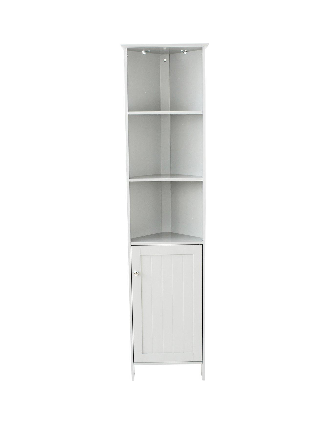 Cupboard With Shelves Blue Canyon Narrow Storage Cabinet Unit Storage Cupboard White 18 X 18 X 82 Cm Desmoinesfencecompany Com