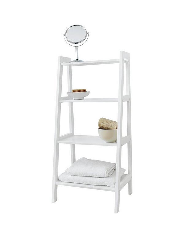 Surprising Lloyd Pascal Portland 4 Tier Bathroom Shelving Unit White Interior Design Ideas Clesiryabchikinfo