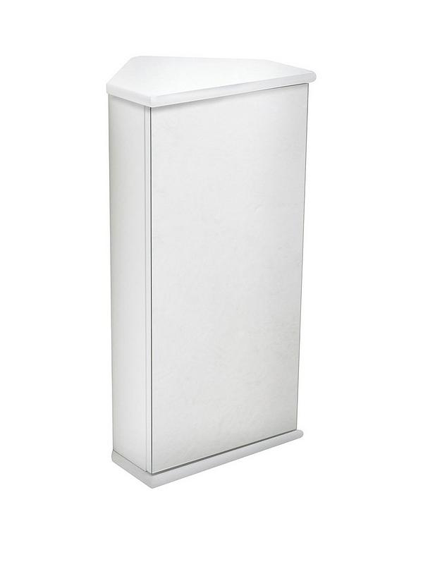 Lloyd Pascal Luna Hi Gloss Corner Bathroom Wall Cabinet White Very Co Uk