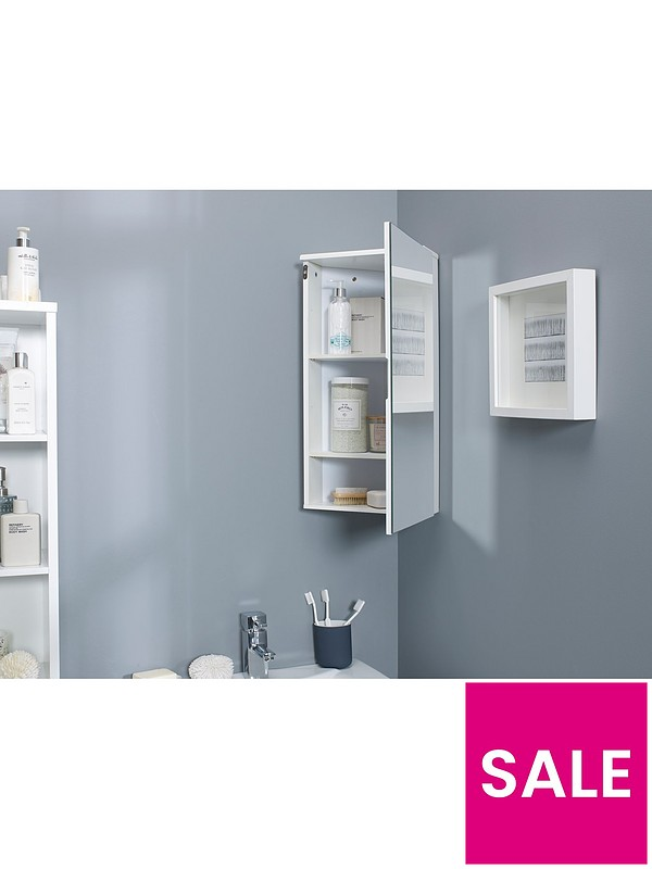 Lloyd Pascal Luna Hi Gloss Corner Bathroom Wall Cabinet White Very Co Uk