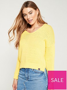 superdry-eloise-textured-open-knit-sunshine-yellow
