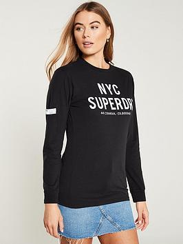 superdry-aida-long-sleeve-top-black