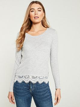 superdry-ashby-long-sleeve-lace-hem-top-light-grey-marl