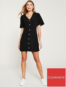 superdry-darcy-button-through-dress-black