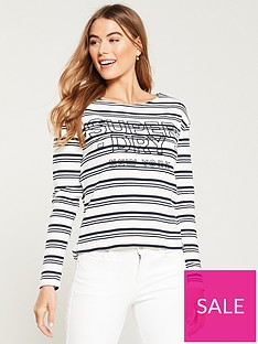 superdry-gracie-long-sleeve-stripe-top-monochrome-stripe