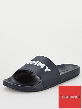 tommy-hilfiger-iridescent-detail-pool-slides-black