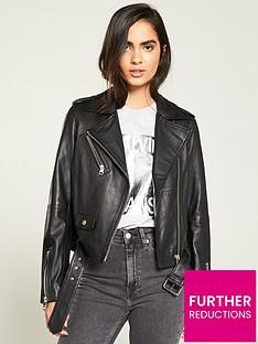 calvin-klein-jeans-leather-biker-jacket-black