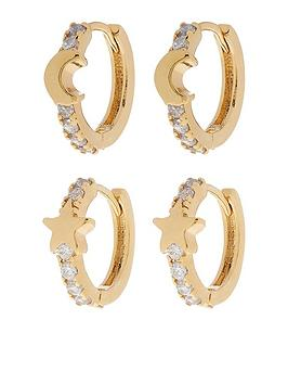 accessorize-2x-pave-moon-amp-star-huggie-hoops-gold