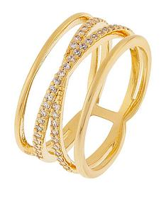 accessorize-criss-cross-sparkle-ring-gold