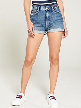tommy-jeans-frayed-hem-denim-short-mid-blue