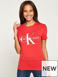 calvin-klein-jeans-metallic-monogram-slim-fit-t-shirt-red
