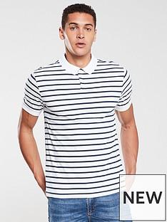 v-by-very-yarndyed-stripe-jersey-polo-white