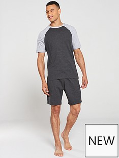 v-by-very-t-shirt-amp-shorts-pyjama-set-charcoalgrey