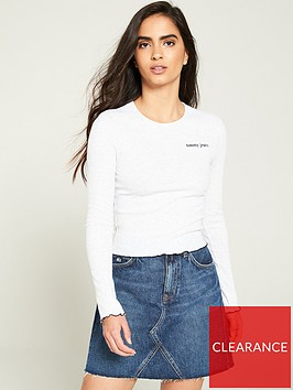 tommy-jeans-babylock-long-sleeve-top-grey-heather