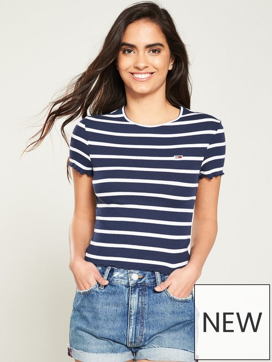 969987d024 Tommy Jeans Striped Baby Lock T-Shirt - Blue/White   very.co.uk