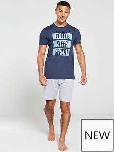 v-by-very-slogan-pyjamas-navy-topgrey-shorts