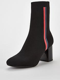 tommy-hilfiger-knitted-heeled-boots-black