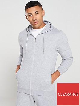 very-man-zip-through-hoodie-grey-marl