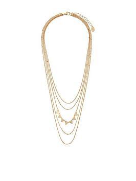 accessorize-delicate-layered-triangle-necklace-gold
