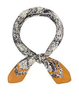accessorize-snake-print-neckerchief-multi